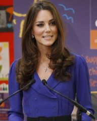 Catherine, the Duchess of Cambridge, makes her first public address as a royal on Monday, at the opening of a children's hospital outside London. Photo: WPA Pool/Getty Images