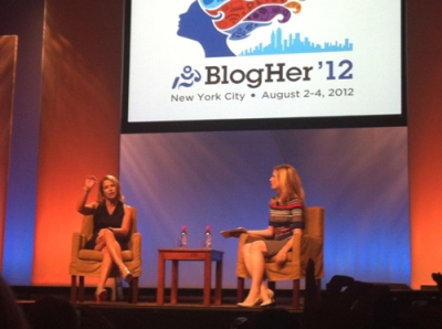 Katie Couric shows that she's a question-and-answer session pro at BlogHer 2012.